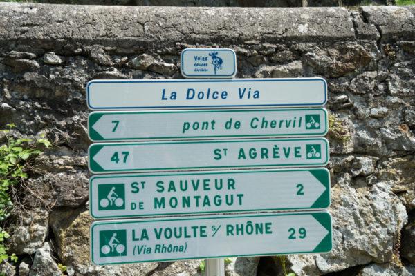 Dolce Via en Ardèche - signalisation