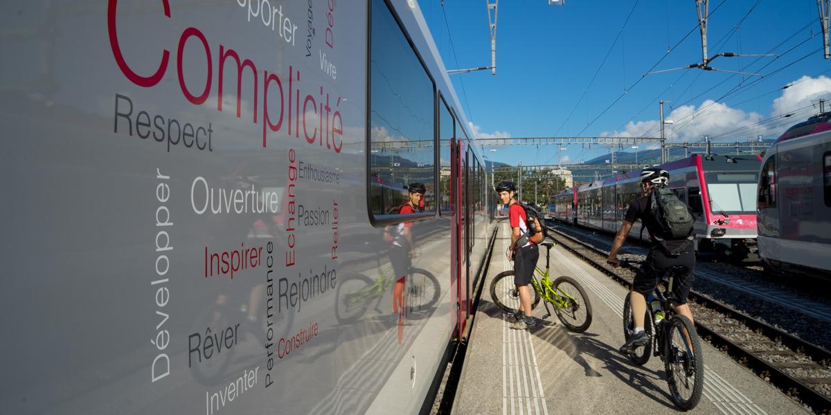 Intermodalité avec le vélo en Suisse