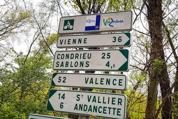 Balisage de l'Eurovélo 17 en France
