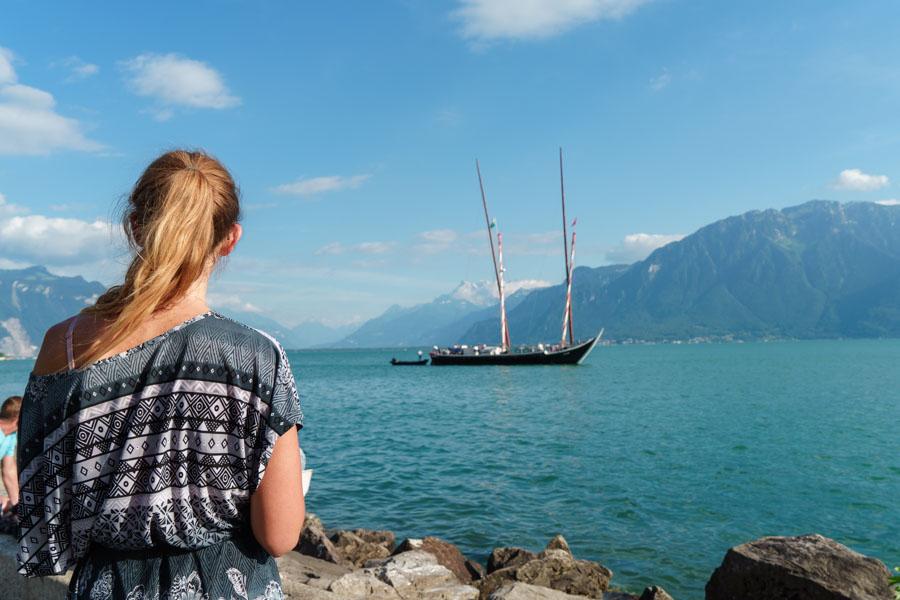 Vevey et le lac Leman