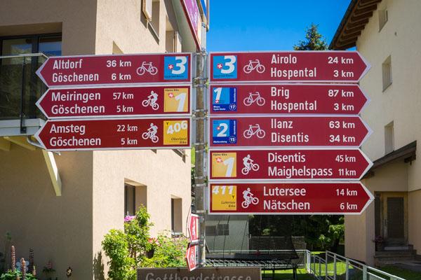 Balisage de l'Eurovélo 17 en Suisse