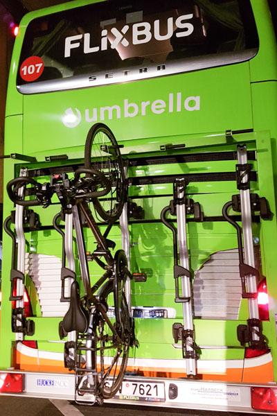 Transport de vélo avec Flixbus
