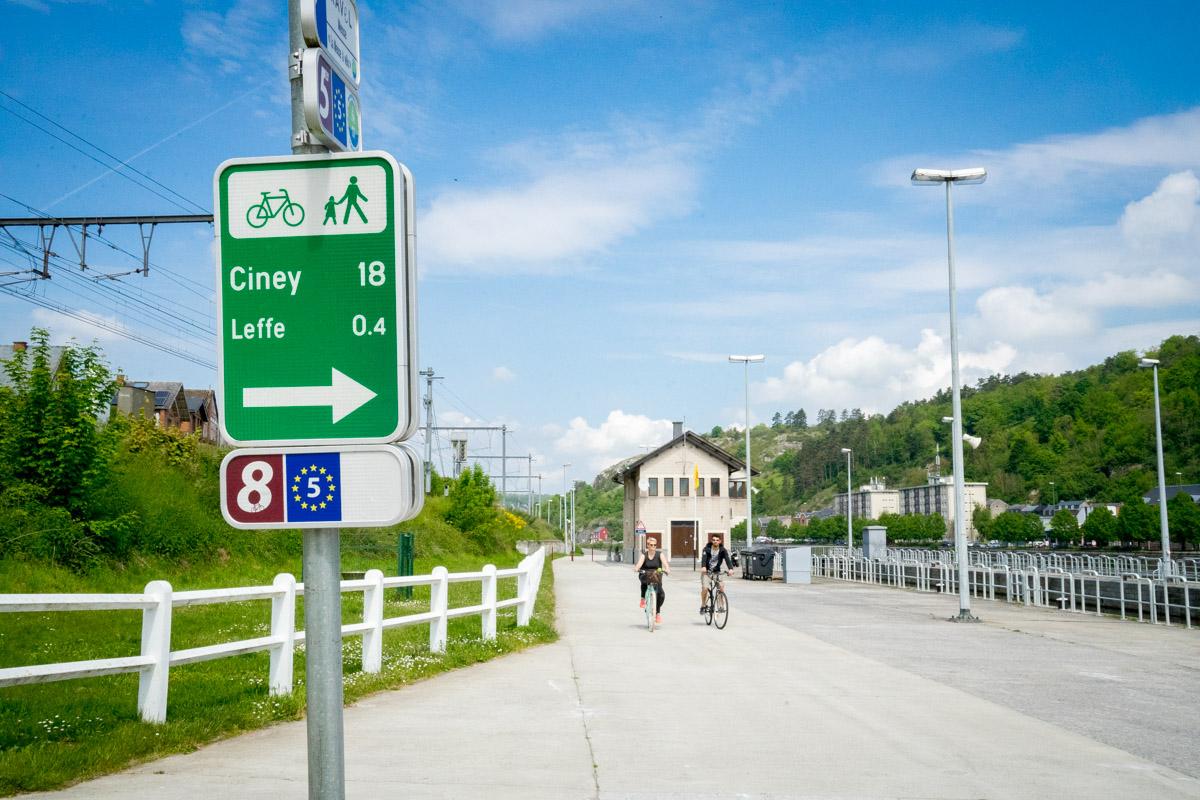 Eurovélo 5 et 19 - de Namur à Dinant (signalisation)